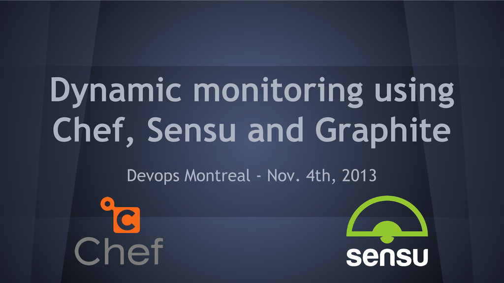 Dynamic monitoring using Chef, Sensu and Graphi...