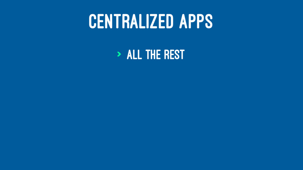 CENTRALIZED APPS > ALL THE REST