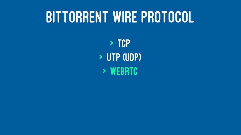 BITTORRENT WIRE PROTOCOL > TCP > uTP (UDP) > We...