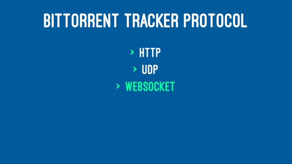BITTORRENT TRACKER PROTOCOL > HTTP > UDP > WebS...
