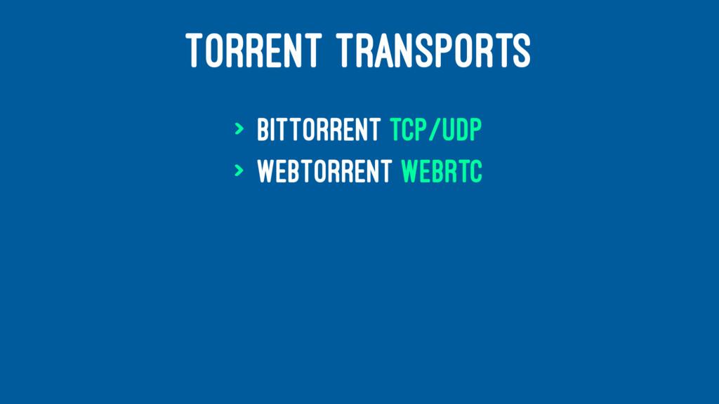 TORRENT TRANSPORTS > BitTorrent TCP/UDP > WebTo...