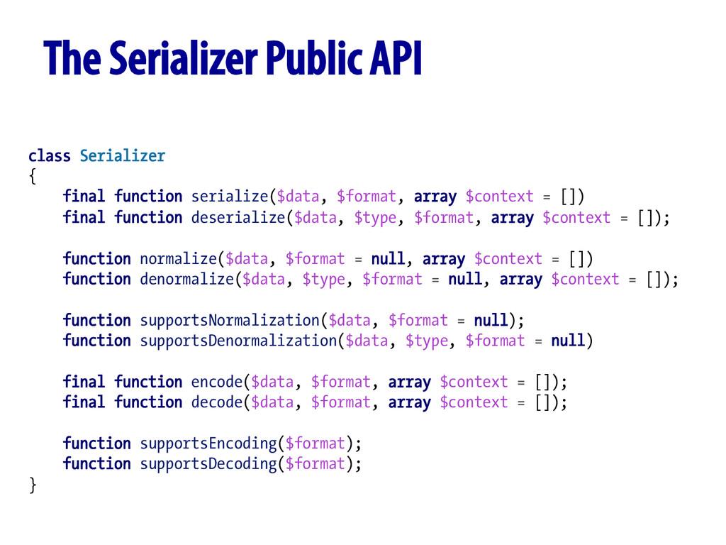 class Serializer { final function serialize($da...