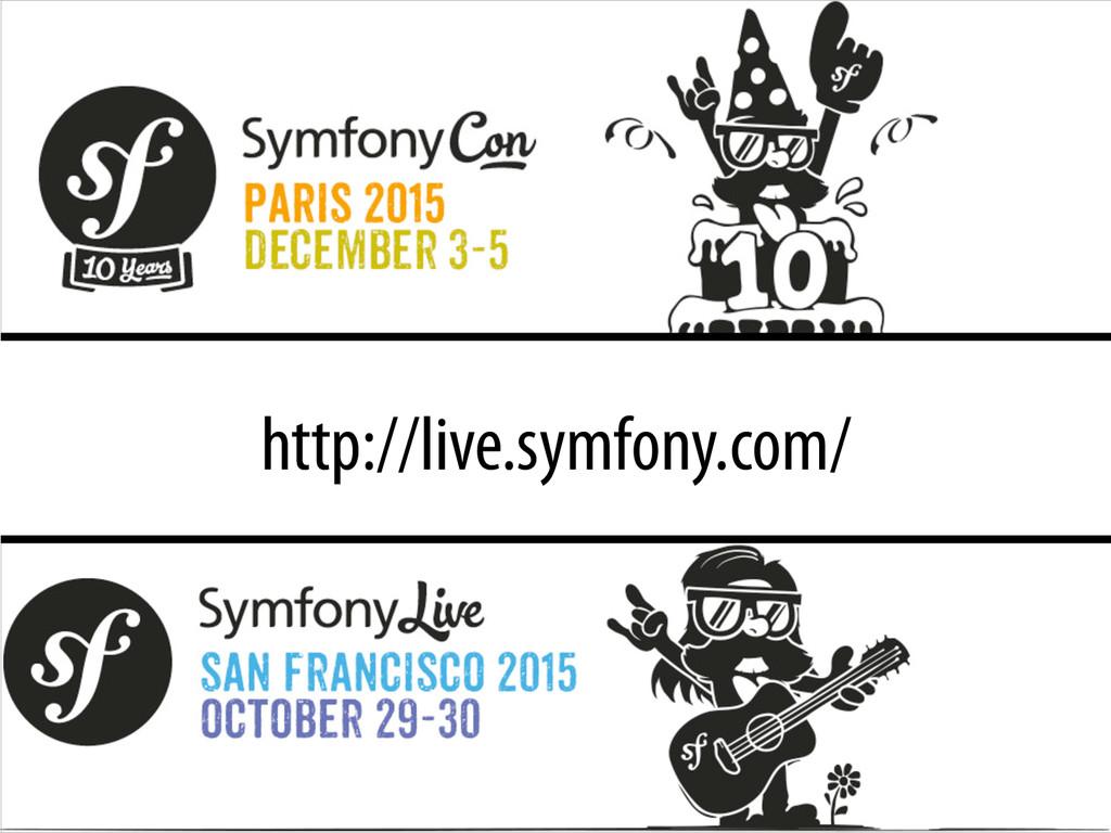 http://live.symfony.com/