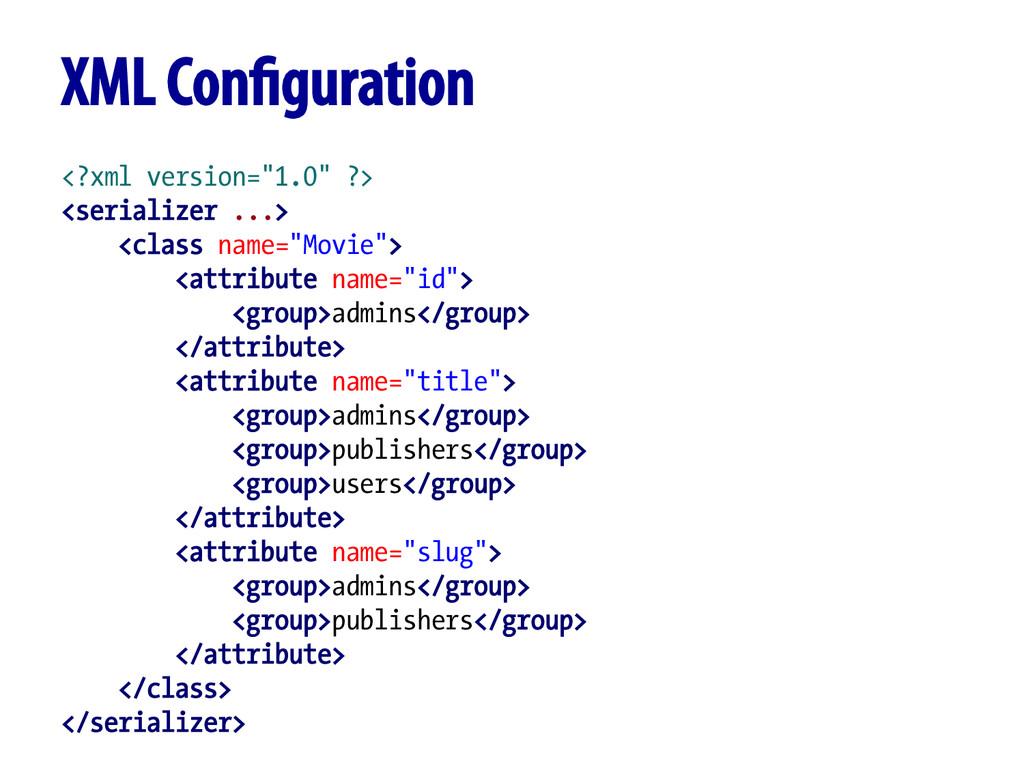 "<?xml version=""1.0"" ?> <serializer ...> <class ..."
