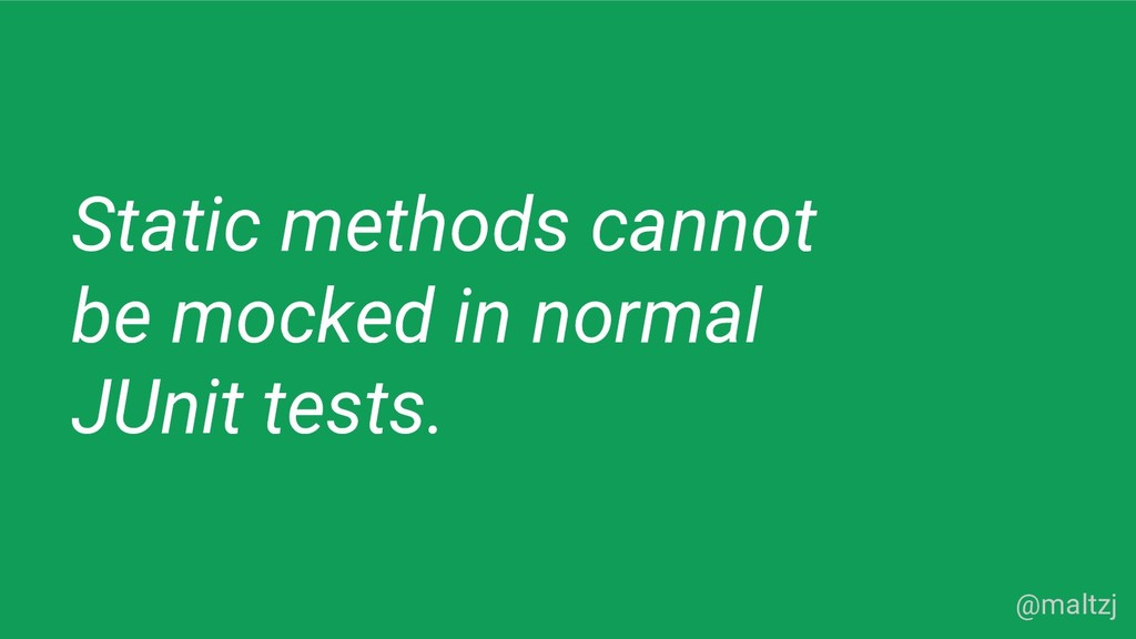 @maltzj Static methods cannot be mocked in norm...