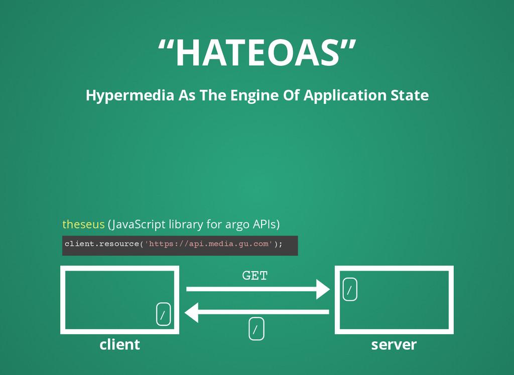 """HATEOAS"" ""HATEOAS"" Hypermedia As The Engine Of..."