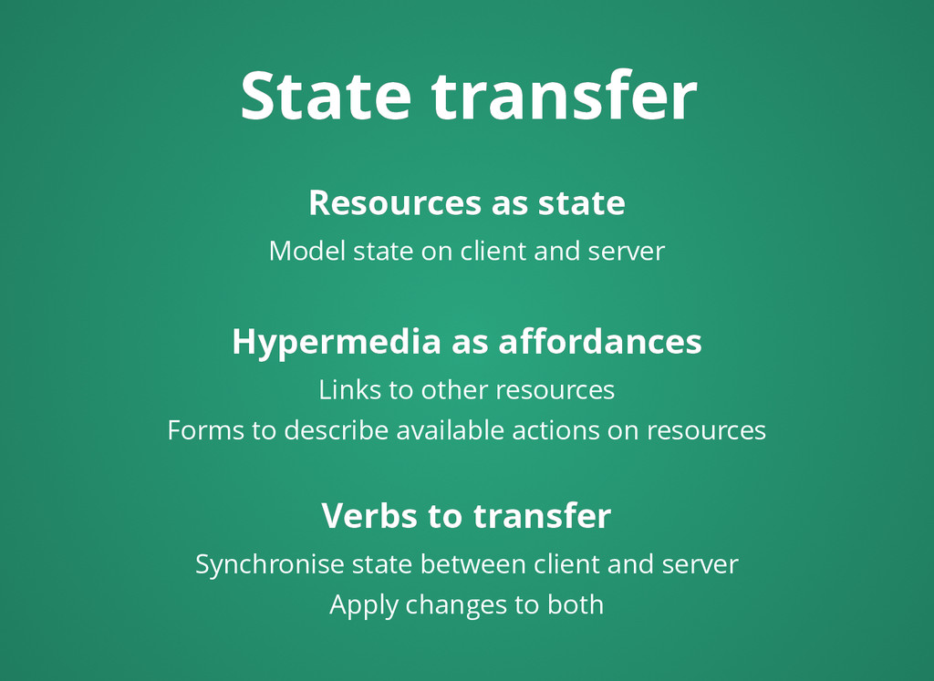 State transfer State transfer Resources as stat...