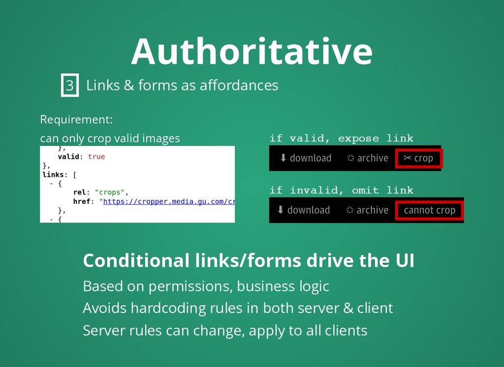 Authoritative Authoritative Conditional links/f...