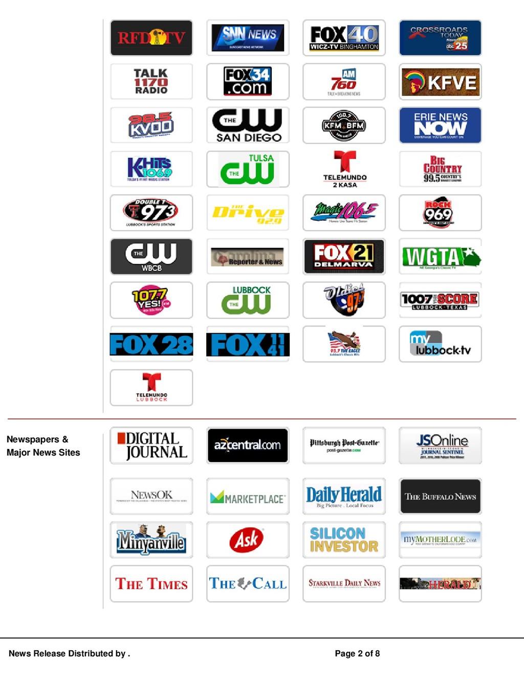 Newspapers & Major News Sites News Release Dist...
