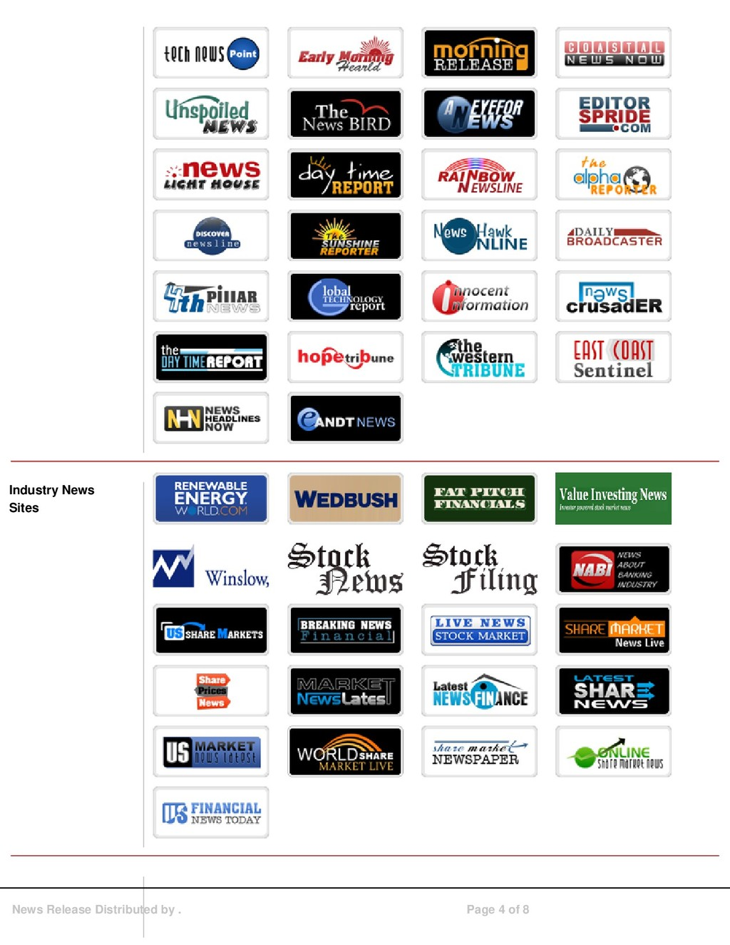Industry News Sites News Release Distributed by...