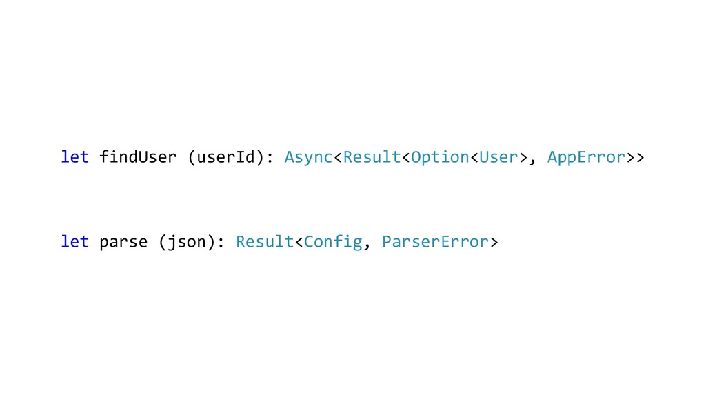 let findUser (userId): Async<Result<Option<User...