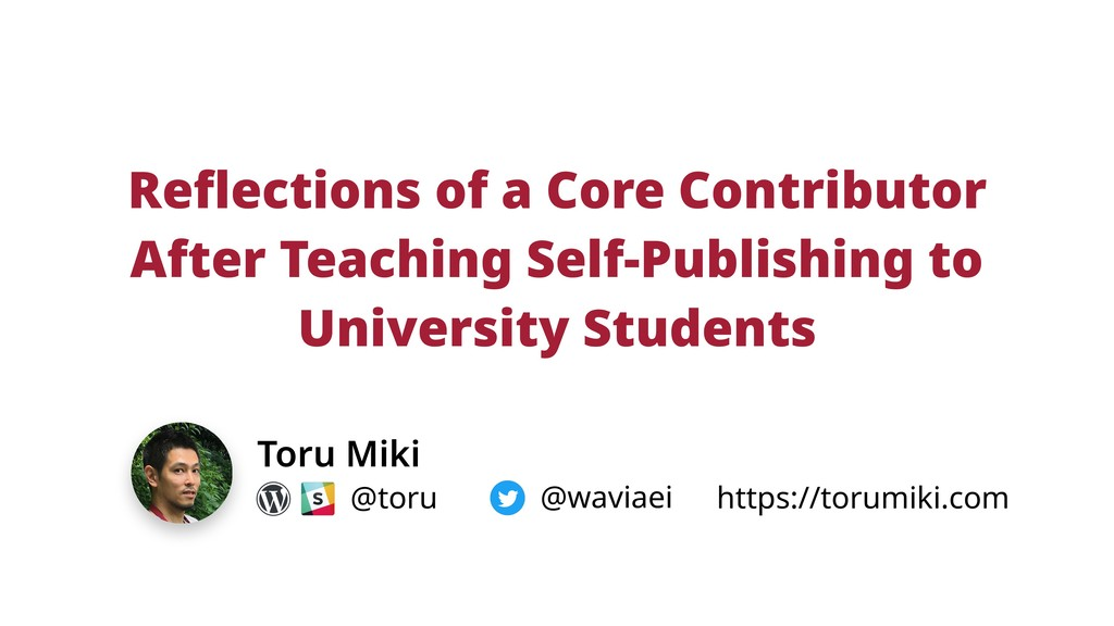 Reflections of a Core Contributor After Teachin...