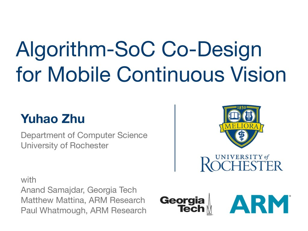Algorithm-SoC Co-Design for Mobile Continuous V...