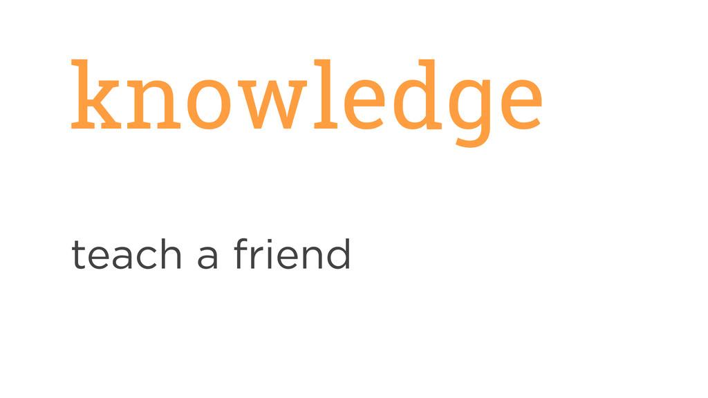 knowledge teach a friend