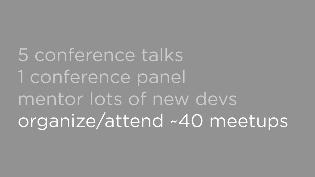 5 conference talks 1 conference panel mentor lo...