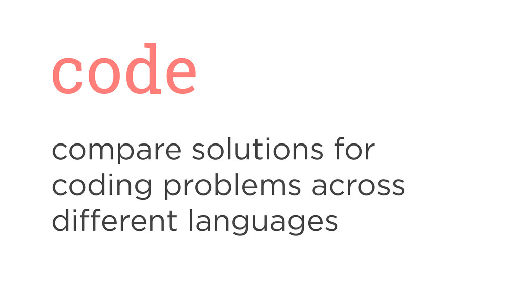 code compare solutions for coding problems acro...