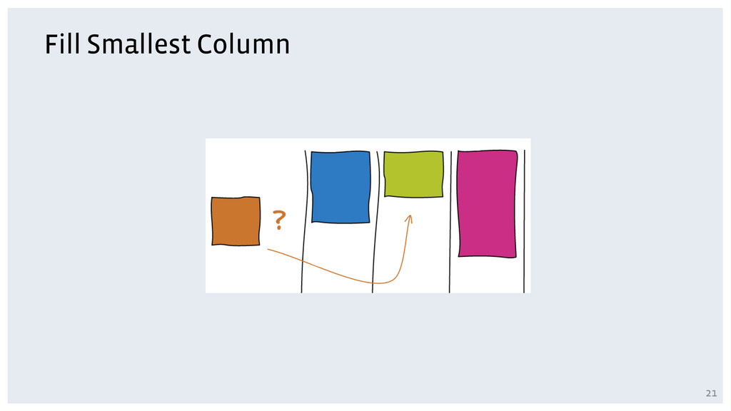 Fill Smallest Column 21