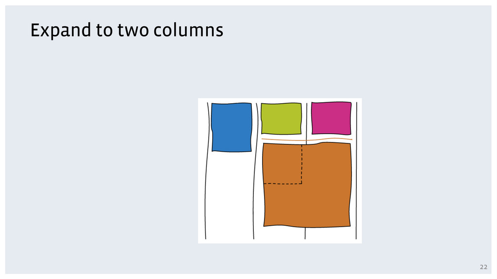 Expand to two columns 22