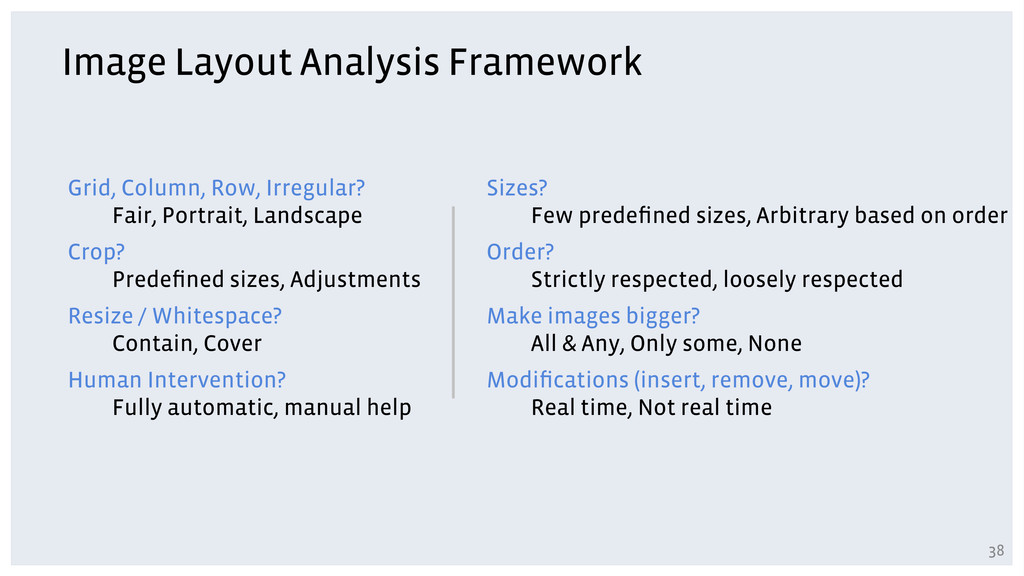 Image Layout Analysis Framework Grid, Column, R...