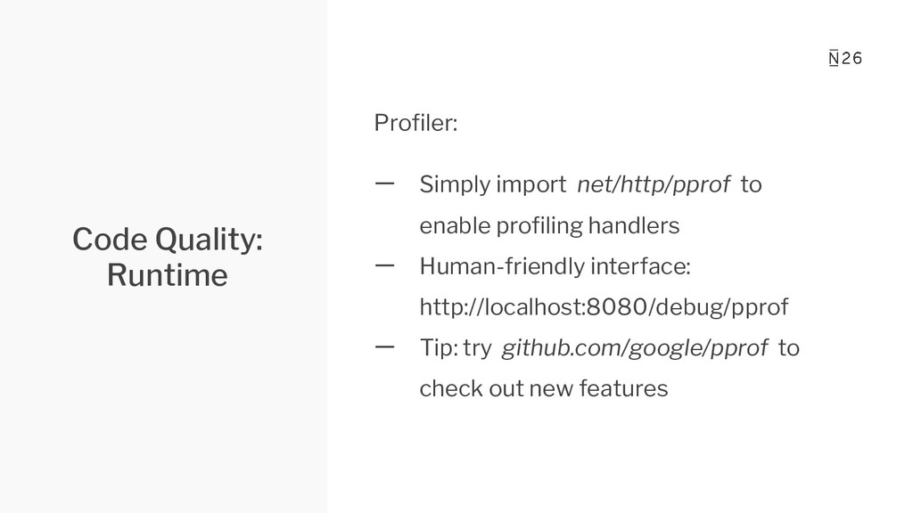 Code Quality: Runtime Profiler: 一 Simply import ...