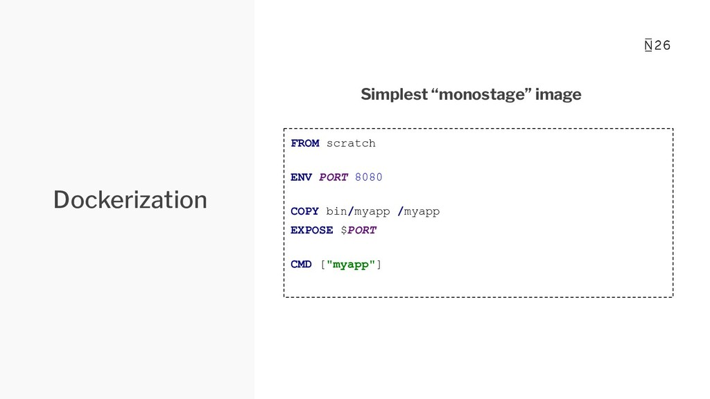 """Dockerization Simplest """"monostage"""" image FROM s..."""