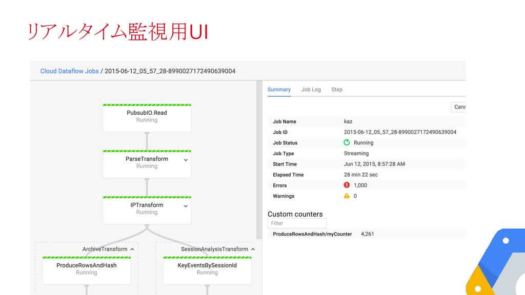 リアルタイム監視用UI