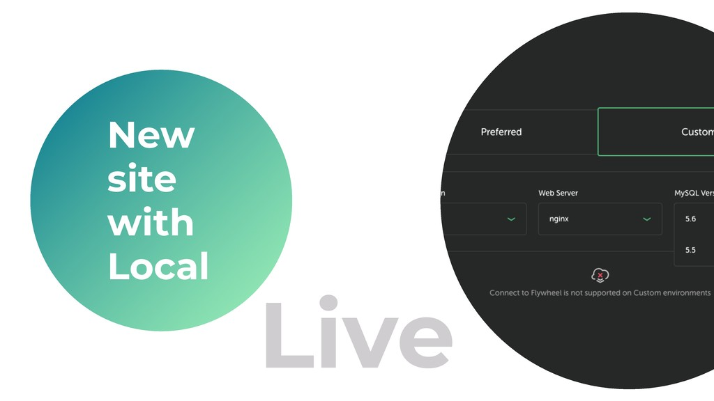 Live New site with Local