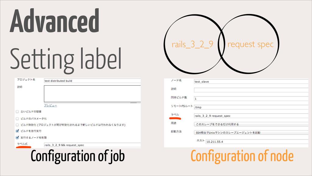 Advanced Setting label Configuration of job Con...