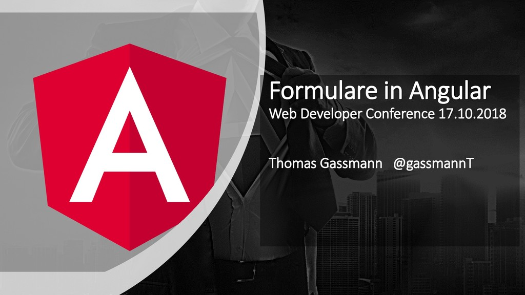 Formulare in Angular Web Developer Conference 1...