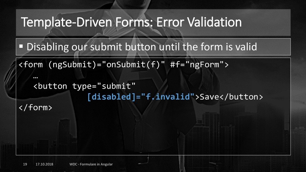 Template-Driven Forms: Error Validation 17.10.2...
