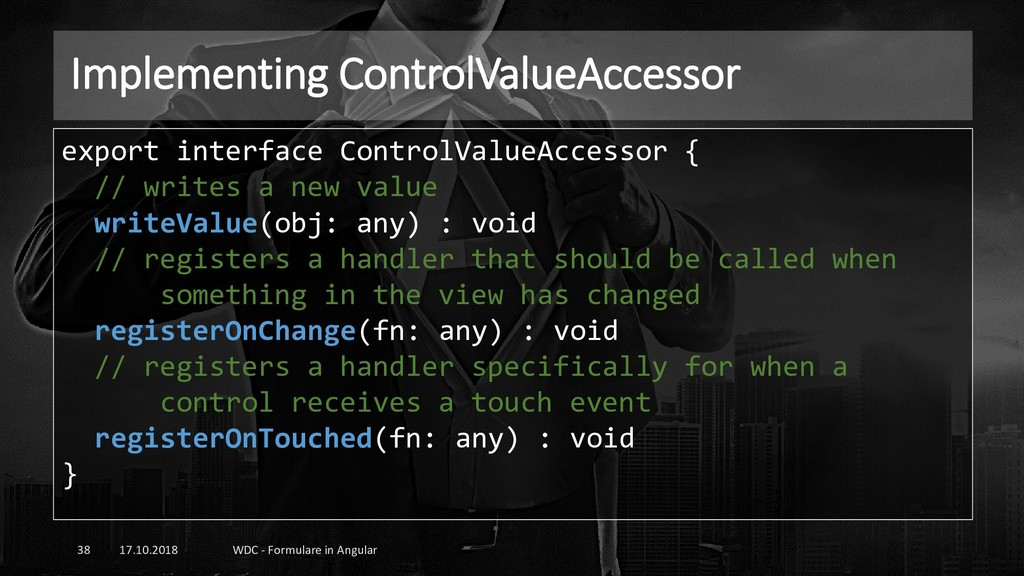 Implementing ControlValueAccessor 17.10.2018 WD...