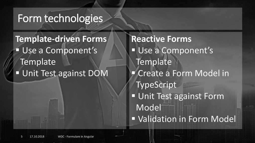 Form technologies 17.10.2018 WDC - Formulare in...