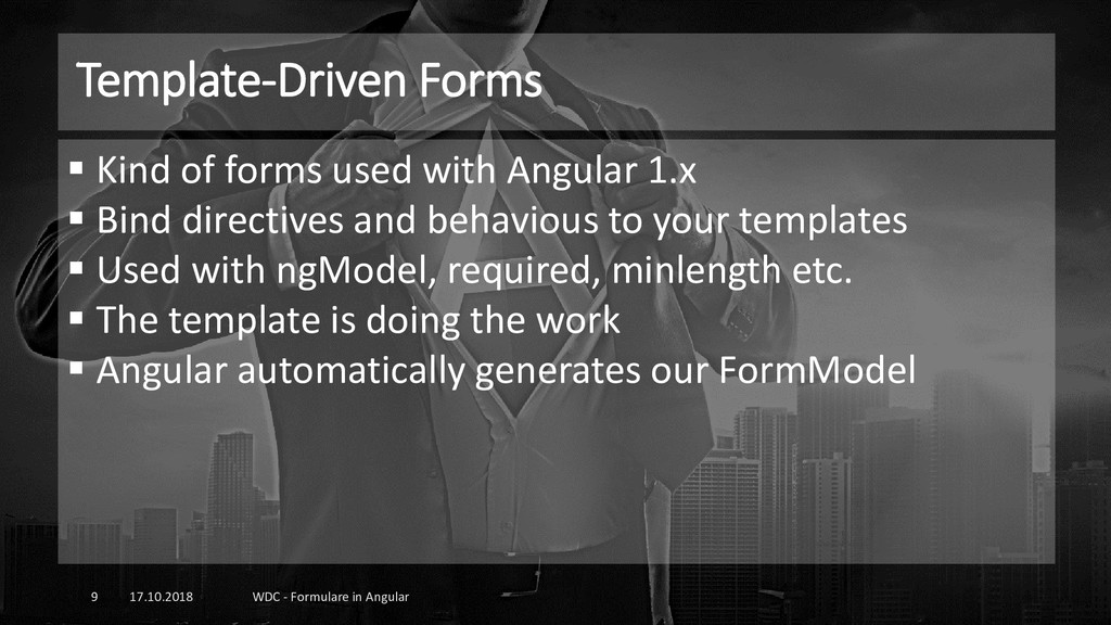 Template-Driven Forms 17.10.2018 WDC - Formular...