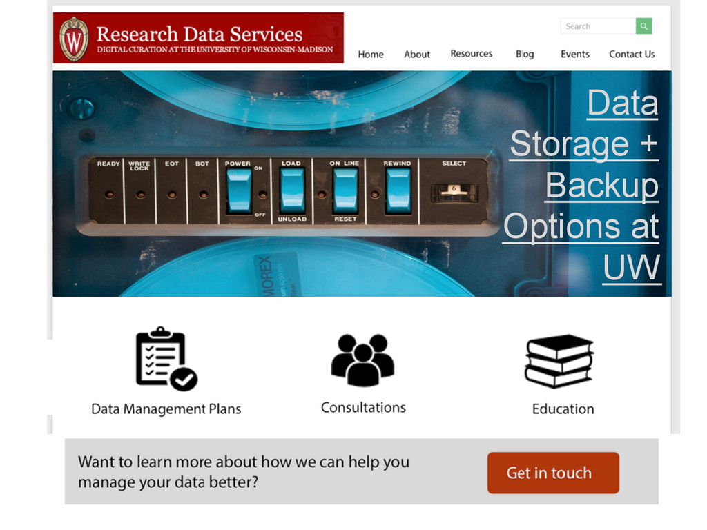 Data Storage + Backup Options at UW