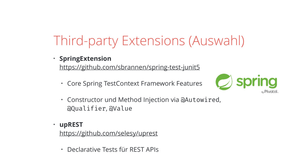 Third-party Extensions (Auswahl) • SpringExtens...