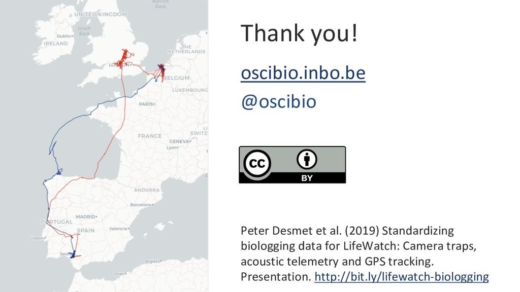 Thank you! oscibio.inbo.be @oscibio Peter Desme...