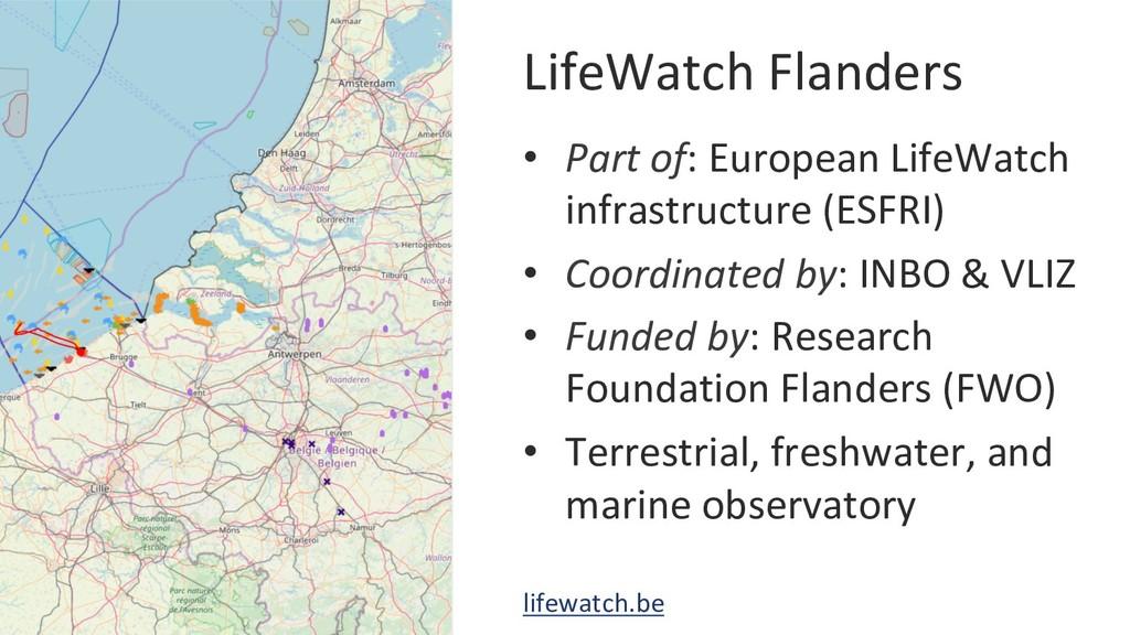 LifeWatch Flanders • Part of: European LifeWat...