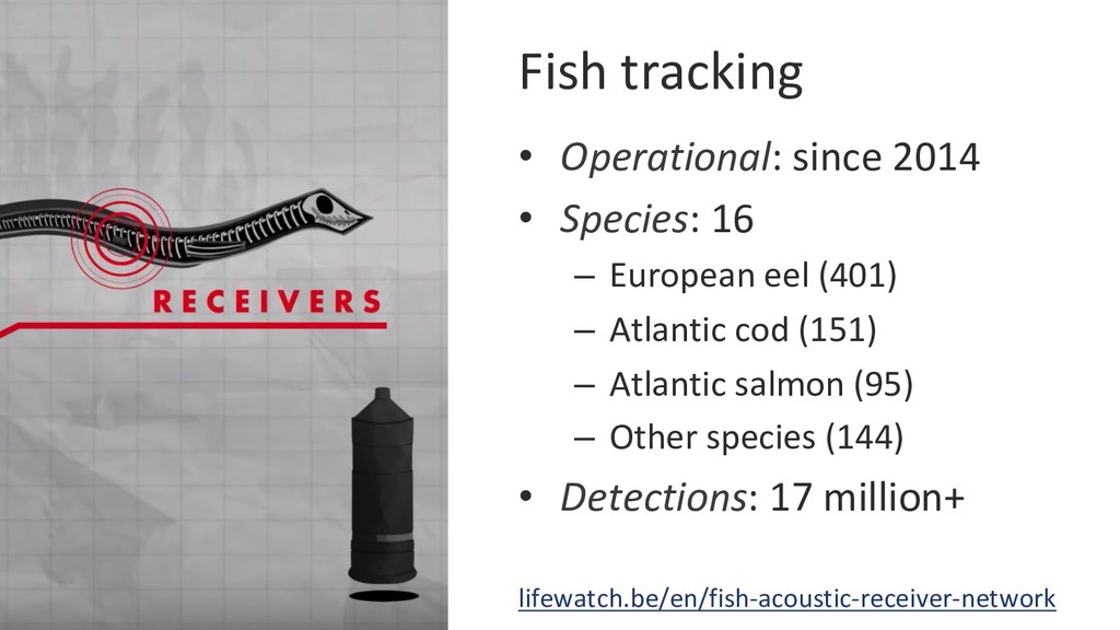 Fish tracking • Operational: since 2014 • Spe...