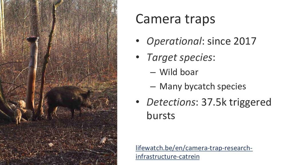 Camera traps • Operational: since 2017 • Targ...