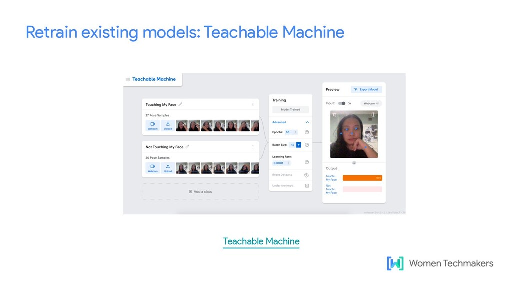 Retrain existing models: Teachable Machine Teac...