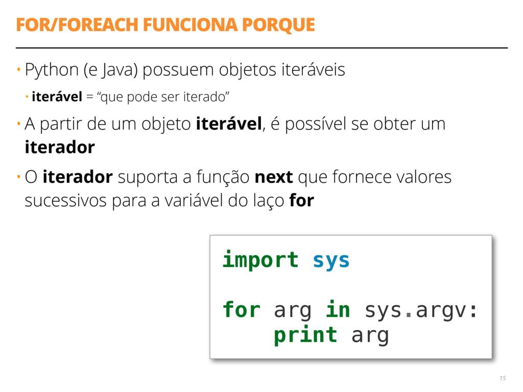 FOR/FOREACH FUNCIONA PORQUE • Python (e Java) p...