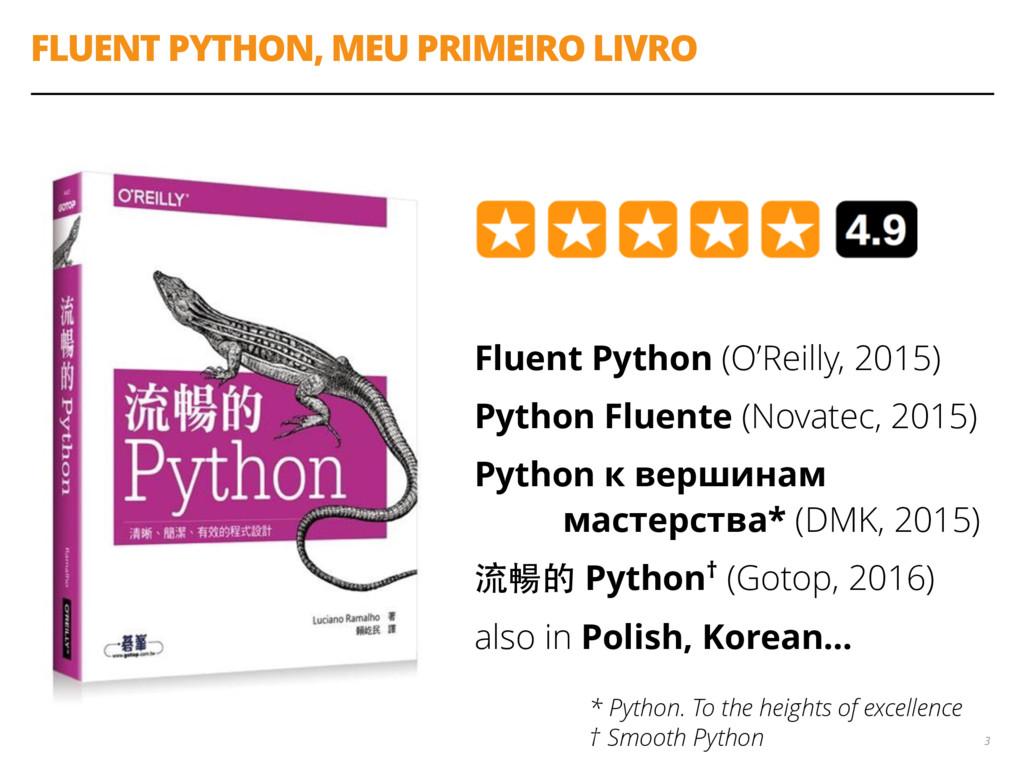 FLUENT PYTHON, MEU PRIMEIRO LIVRO Fluent Python...