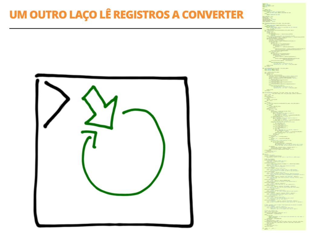 UM OUTRO LAÇO LÊ REGISTROS A CONVERTER 49