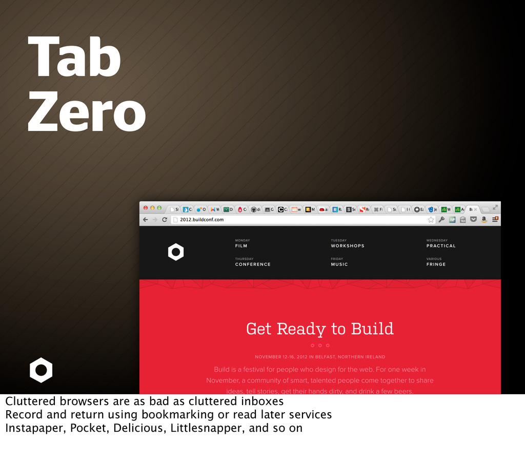 Tab Zero Cluttered browsers are as bad as clutt...