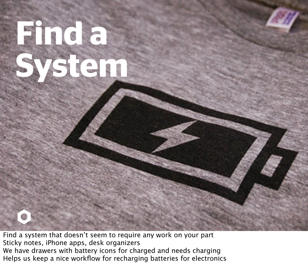 Find a System Find a system that doesn't seem t...