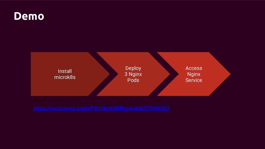 Demo Install microk8s Deploy 3 Nginx Pods Acces...