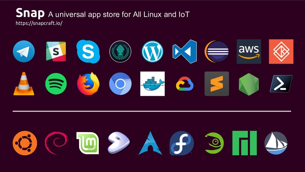 Snap A universal app store for All Linux and Io...