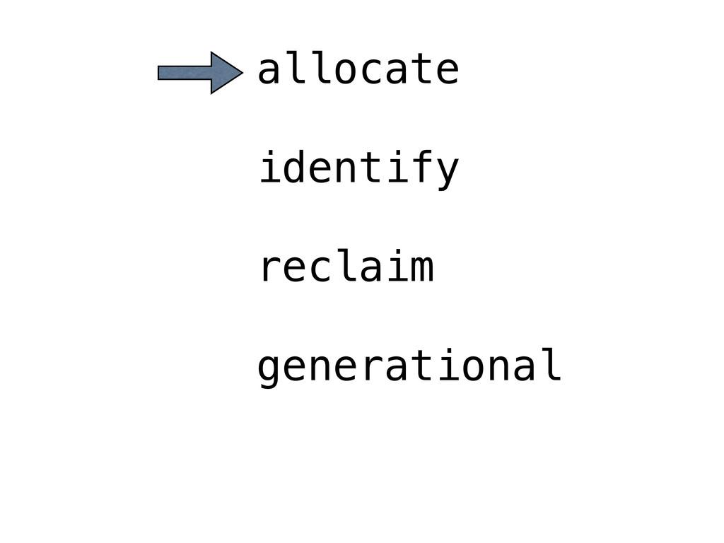 allocate identify reclaim generational