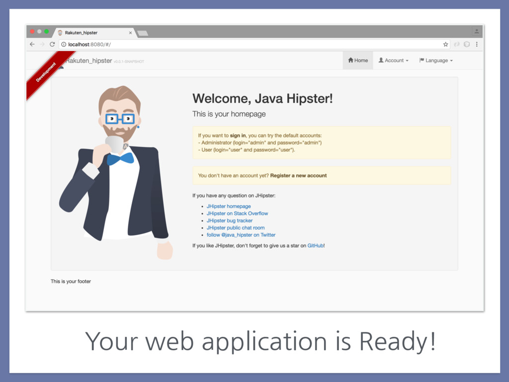 Your web application is Ready!