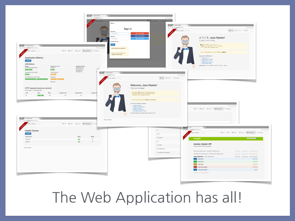 The Web Application has all!